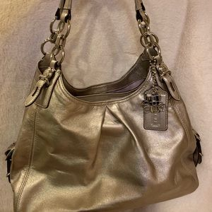 COACH Legacy Silver Leather Purse / Bag